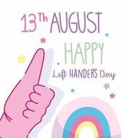 linkshandigen dag, duimen omhoog gebaar poster