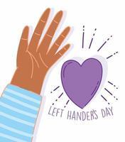 linkshandigen dag, open hand cartoon design