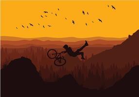 Bike Trail Avond Vrij Vector