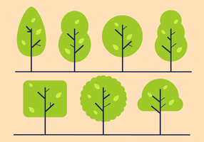 Gratis Minimalistische Bomen Vector