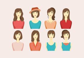 Headshot Vrouwen Vector