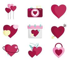 romantische icon set voor Valentijnsdag