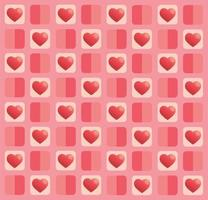schattig pastel hart patroon
