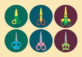 Cute Scissors Vector Set