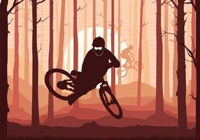 Bike Trail Silhouette Gratis Vector