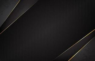 zwart met gouden accentachtergrond vector