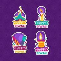 gelukkige diwali kaars sticker