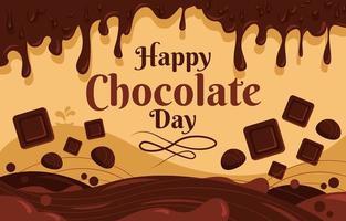 heerlijke smeltende chocolade in chocoladedag vector