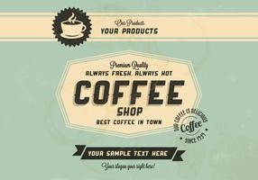 Beste koffie in de stad Vector