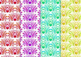 Gratis Vector Floral patroon in stijl van de waterverf