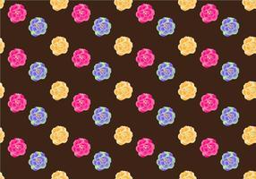 Gratis Camellia naadloze patroon Vector Illustration