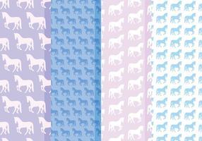 Vector Horses Patterns