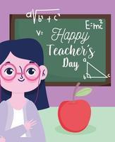 gelukkig lerarendag groet ontwerp