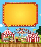 circus scène met teken sjabloon