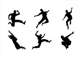 Man Jumping Siluetas Gratis Vector