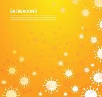 gele coronavirusachtergrond