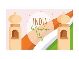 gelukkige onafhankelijkheidsdag india poster vector