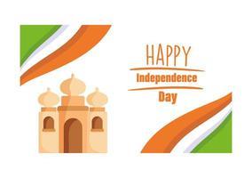 gelukkige indiase onafhankelijkheidsdag poster vector