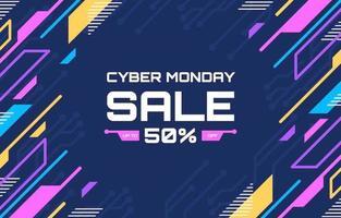 kleurrijke technologie cyber maandag verkoop achtergrond