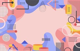 roze blauw oranje verschillende geometrische vormen abstracte achtergrond vector