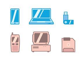 Oud versus nieuw Tecnologia icon vector