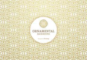 Golden Ornamental Vector Achtergrond
