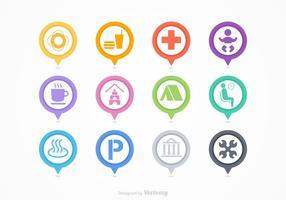 Kaart Legend Vector Icons