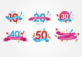 Verjaardag poster vector set