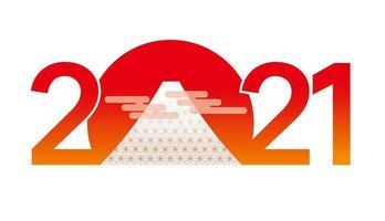 gradiënt rood oranje jaar 2021 nieuwjaarsgroet vector