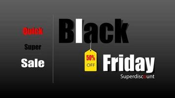zwarte vrijdag verkoop teken