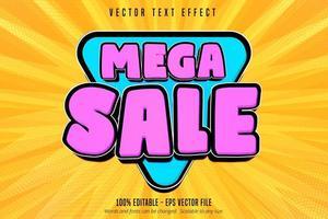 mega sale shopping style bewerkbaar teksteffect vector
