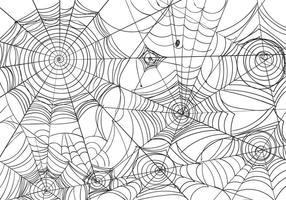 Zwart-witte Spiderweb Vectorillustratie
