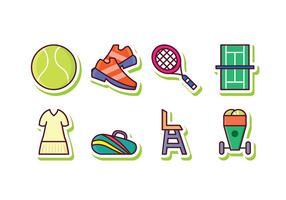Gratis Tennis Icon Set vector