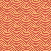 het duidelijke rode traditionele golfpatroon van Japan vector