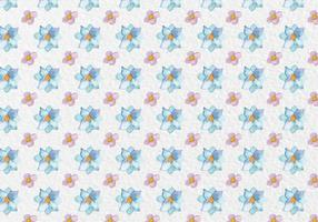 Gratis Vector Spring Waterverf Bloemenpatroon