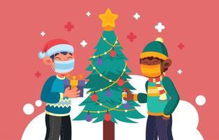 nieuwe normale uitwisseling van kerstcadeaus