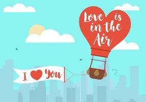 Vector Valentijnsdagballon