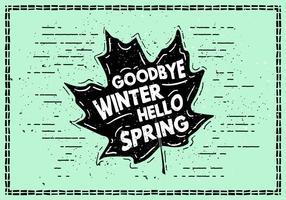 Gratis Hello Spring Background vector