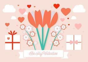 Wees Mijn Valentijnse Vector Achtergrond
