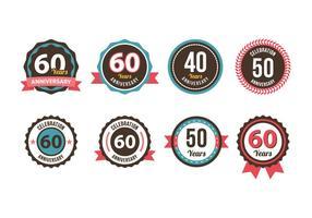 Anniversary badge Vector