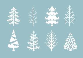 Vector Het verzamelen van kerstbomen of Sapin
