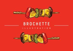 Brochette Illustratie vector