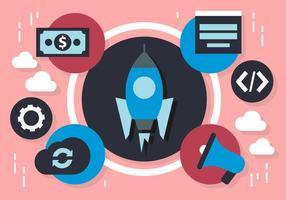 Gratis Flat Media Marketing VectorElementen