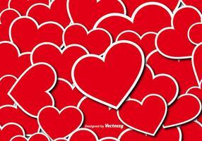 Vector naadloze patroon van harten