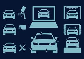Car Body Repair Icons vector