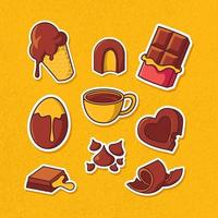 chocolade sticker set