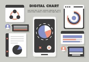Gratis Flat Grafiek Infographic Vector