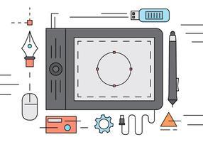 Graphic Design Desk illustratie vector
