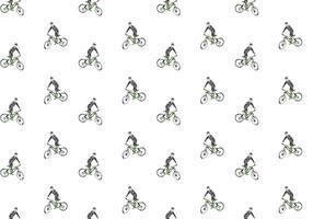 Gratis Bicicleta naadloze patroon Vector Illustration