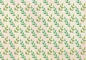 Gratis Vector Aquarel Patroon van het Blad